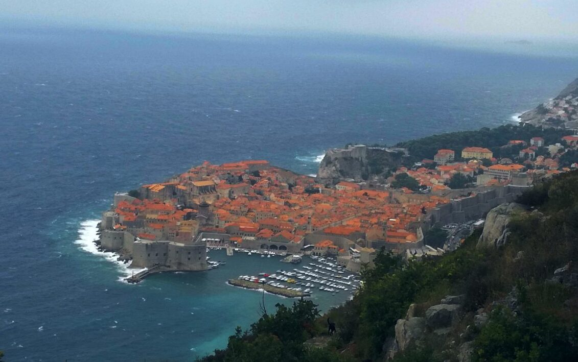 beautiful view of the Old Town Dubrovnik in the winter
