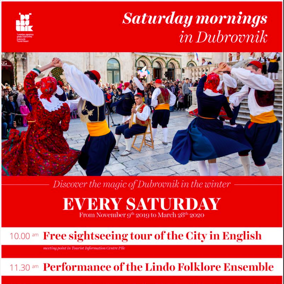 Saturday mornings in Dubrovnik is a free winter program organised by Dubrovnik Tourist Board
